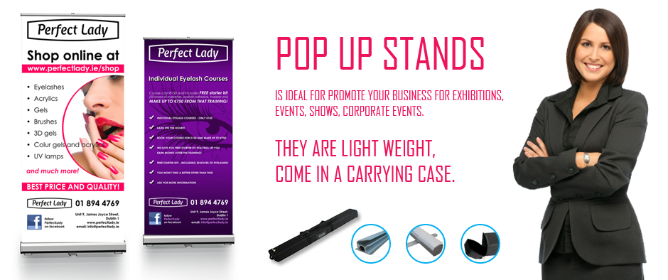 pop up stands at Print Dublin